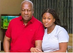 John Dramani Mahama, former president of Ghana and his daughter Farida Mahama