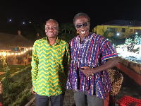 Lawyer Tsatsu Tsikata with Kwaku Sintim Misa