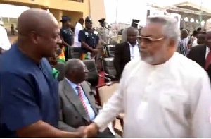 Rawlings Mahama Handshake