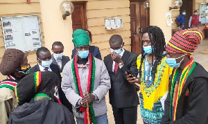 Members of the rasta society at the court premises