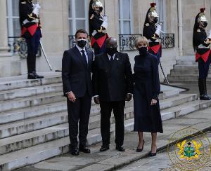 President of Ghana, Nana Akufo-Addo with French President, Emmanuel Macron