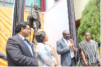 L-R: Birender Singh, Shirley Ayorkor Botchwey, Vincent Odotei Sowah and Kwasi Adu-Gyan