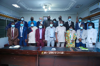Group photo of Sports Ministry and GFA officials after the meeting