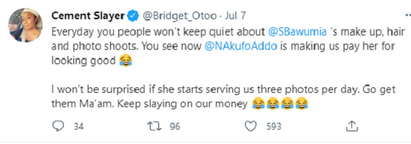 1st, 2nd ladies salaries: Akufo-Addo is making Ghanaians pay Samira for looking good – Bridget Otoo. 51