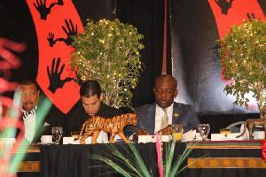Information Minister Kojo Oppong Nkrumah representing Ghana at the event
