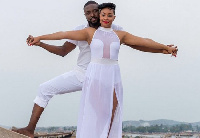 Elikem and wife Pokello