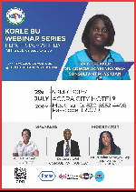 The first of the Korle Bu Webinar Series comes off today at 5pm