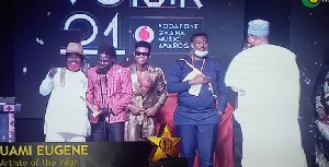 Kuame Eugene has been crowned Artist of the Year at the 21st Edition of the VGMAs