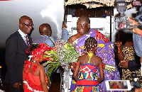 The Otumfuo during his visit