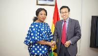 Ghana's Foreign Affairs Minister, Shirley Ayorkor Botchwey & Chinese Amb. to Ghana, H.E. Lu Kun