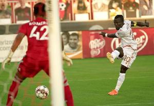 Solomon Asante scored a penalty for Phoenix Rising FC