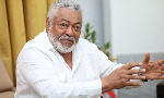 Kwamena Duncan demonstrates how Rawlings played with his toy planes