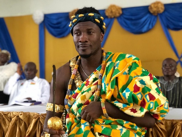 Asamoah Gyan enstooled as Chief in Hohoe