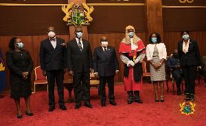President Nana Addo Dankwa Akufo-Addo with some justices