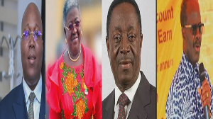 Dr. Nii Kotei Dzani, Gifty Afenyi Dadzie, Dr. Kwabena Duffuor and Dr. Papa Kwesi Nduom