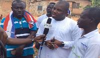 File photo: Eric Nartey Yeboah speaking to the media