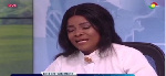Gospel singer, Ohemaa Mercy shedding tears during an interview with TV3