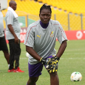 Black Queens Goalkeeper Fafali Dumehasi