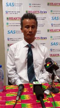 Hearts of Oak coach Kenichi Yatsuhashi