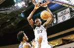 Amida Brimah was in action for Austin Spurs