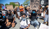 One of the biggest protests joined by Floyd's relatives took place in his hometown of Houston, Texas
