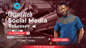 Adjetey Anang will be in charge of GhanaWeb's Facebook and Instagram pages on Monday