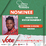 Kuame Eugene is nominated in the Award for Entertainment category
