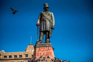 The president says monuments that glorify racism have no place in democratic South Africa