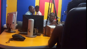 The young lady in the studio of Fox FM