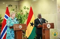 President Akufo-Addo with Norwegian Prime Minister, Erna Solberg