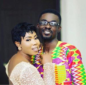Nana Appiah and wife