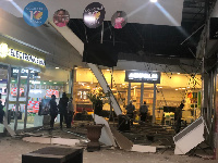Part of the ceiling of Accra Mall collapsed on Thursday