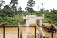 The bridge when completed would link River Pra to River Offin and Dunkwa