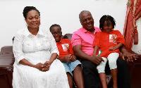 President John Dramani Mahama and his family