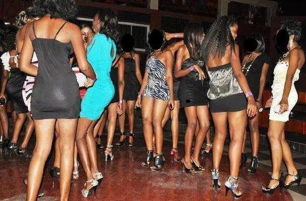 Sex workers at Pokuase return to salvage belongings after Police raid