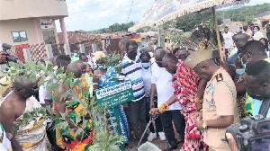 Nana Otuo Siriboe II Juabenhene Performing A Ceremonial Tree Planting Exercise