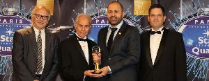 Mr Nour Seklaoui, Managing Director Electroland receives the award