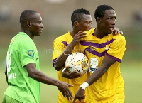 Abass Mohammed (holding the ball) is set for a return to Medeama