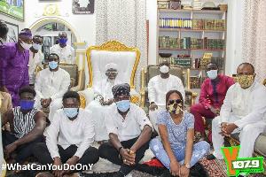 The YFM team in a group photo with the National Chief Imam, Sheikh Dr. Osmanu Nuhu Sharubutu