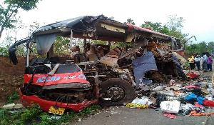 Over 50 passengers died in an accident involving two buses on the Techiman-Kintampo road