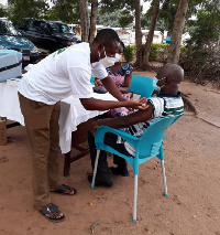 The COVID-19 vaccination exercise in Akatsi started Thursday