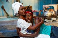 Akosua Busia, (actress, film director) with Lupita Nyong'o