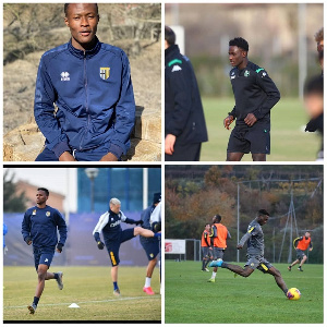Some of Ghana's young international at training season