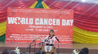 Princess Dina Mired of Jordan was encouraging Ghana to do more to reduce the high cancer rate