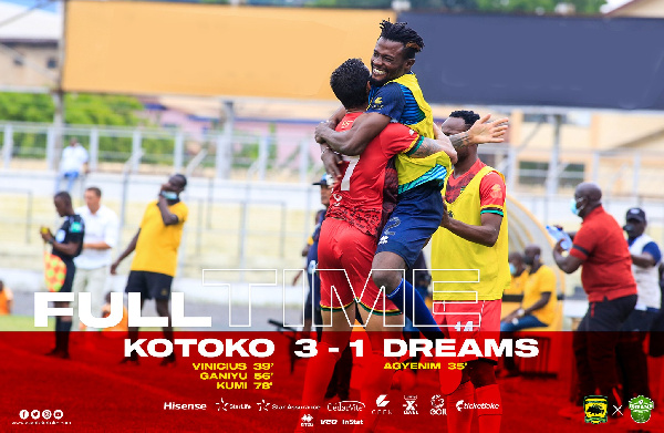 GPL match report: Asante Kotoko comes from behind to beat Dreams FC 3-1