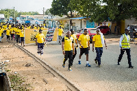 The walk and float started from the Ghacem Club House, through Community 5 traffic
