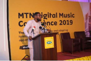 Bless Sefenu Agordjo,Senior Manager of MTN Ghana Product and Services