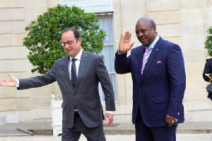 President Hollande and Mahama in France a few weeks ago