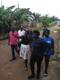 Sheila Bartels with Kofi Ofori, Ablekuma North MCE