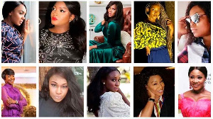 Nollywood actresses in a photo collage